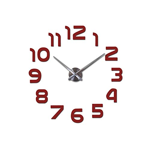 Xinny 2017 New Acrylic Mirror DIY Wall Clock Watch Wall Stickers Horloge -