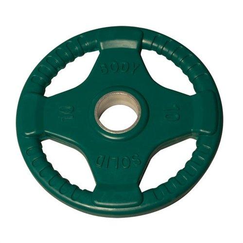 ボディソリッド10 lbグリーンラバーグリップオリンピックプレートペア B0072JMDU2