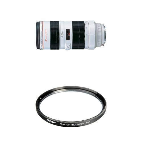 Canon EF 70-200mm f/2.8L USM Telephoto Zoom Lens for Canon SLR Cameras with 77mm UV Protection Filter