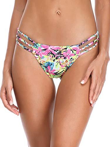 RELLECIGA Women's Jungle Triple Strappy Bikini Thong Bottom Size Small by RELLECIGA (Image #2)