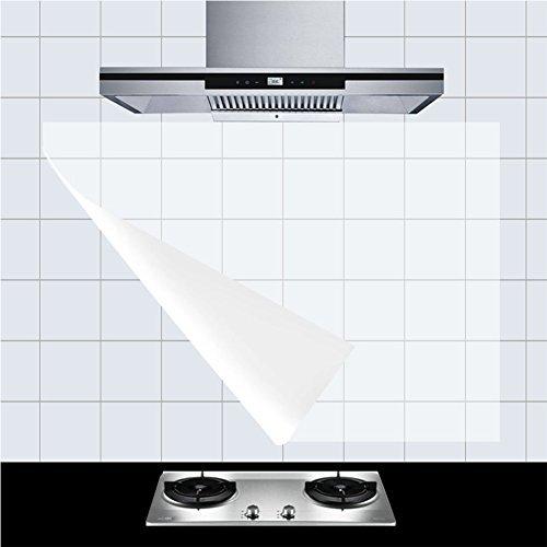 HaloVa Kitchen Backsplash Wallpaper Stickers Waterproof Oilproof High Temperature Resistant Transparent EnvironmentFriendly PVC 23quotx35quot 6pcs