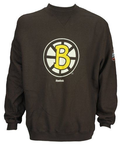 Reebok NHL Men's Boston Bruins Winter Classic 2010 Crew Sweatshirt, Brown (X-Large)