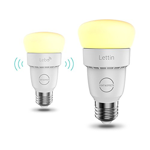 Lettin Smart Led Bulb A19 Starter Kit, Wi-Fi Extender, Dimmable, Air Control, Compatible with Alexa, Pack of 2 by LIGHT & EFFECTS (Image #1)