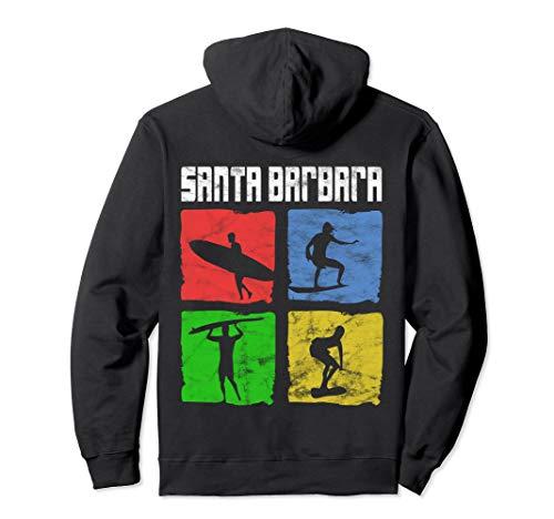 DISTRESSED Beautiful Santa Barbara Surfing Hoodie ()
