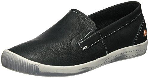 Softinos Damen Ita298sof Gladde Slipper Schwarz (zwart)