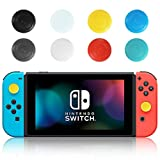My Genik 16 PCS Non-Slip Silicone Thumb Stick Grips Controller Accessories, Protector Covers Joystick Thumbsticks Caps Skin Replacement Parts for for Nintendo SWITCH / SWITCH LITE