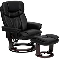 Flash Furniture Contemporary Black Leather Recliner and...