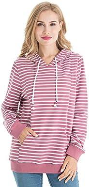 Bearsland Women's Maternity Hoodie Breastfeeding Shirt Nursing Sweatshirt Poc