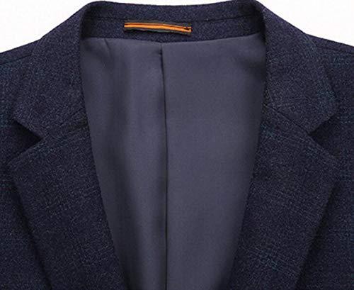 Costume D'automne Foncé couleur Simple Slim Hommes Taille Pour Veste Petit Bleu Occidentale Xl Foncé Populaire Acvxz Décontracté Jeunes dqECp6dw