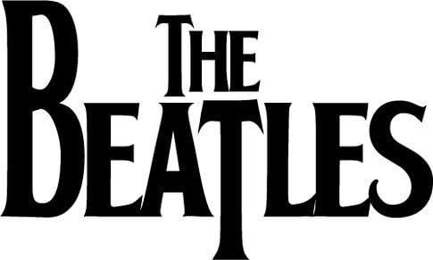 The Beatles Logo Music Bumper Sticker 12 x 8 cm: Amazon.co ...