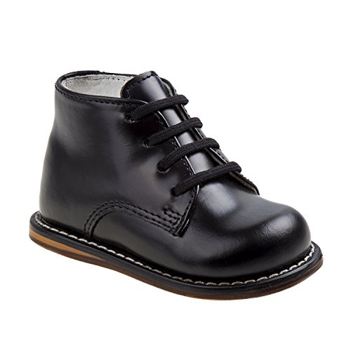JOSMO Unisex Toddlers Pebbled-Leather Walking Shoe, BlackPebble, 4.5 M US Infant