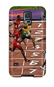 EuzkEBi5796GBfon Case Cover Usain Bolt Running Galaxy S5 Protective Case