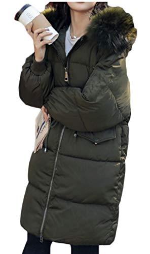 Trapuntato Militare Hoodie Inverno Ttyllmao Giacca Palla Pesce Donne Giù Parka Delle Verde Leggero n4WqHg