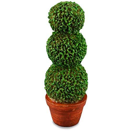 Dollhouse Miniature Lemon Topiary Tree in Porcelain Pot by Reutter Porcelain