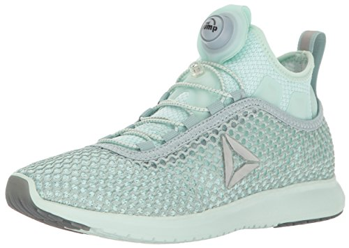 Reebok Women's Pump Plus Vortex Running Shoe, Seaside Grey/Mist/Silver Met, 6.5 M (Reebok Custom Fit Pumps)