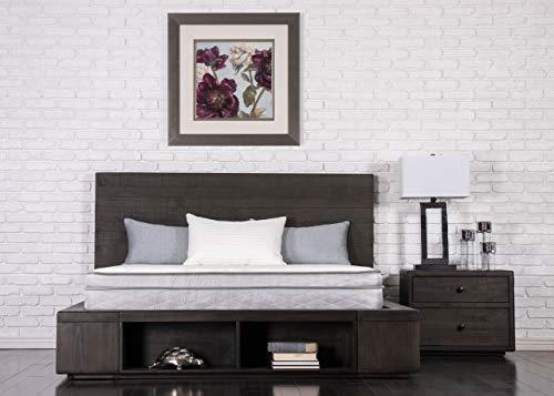 """Dreamfoam Bedding Doze 9"""" Eurotop Mattress-Medium Comfort, Short Queen, Made in The USA"""