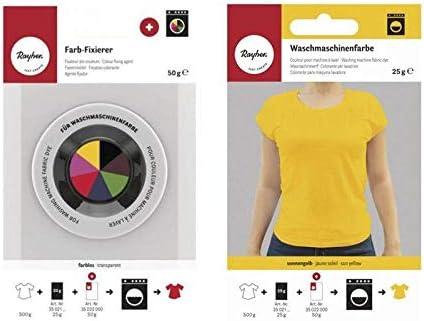 Rayher Fijador + Tinte Textil para Lavadora - Amarillo Sol ...