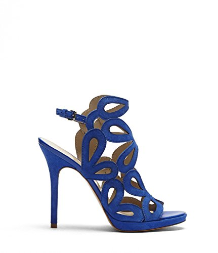 Over Heel high Women's Heel Toe Open Stiletto high Smooth Summer Blue Cut Round Sandals Lada All Shoes Made with PoiLei from and Leather Out ZRnAxI