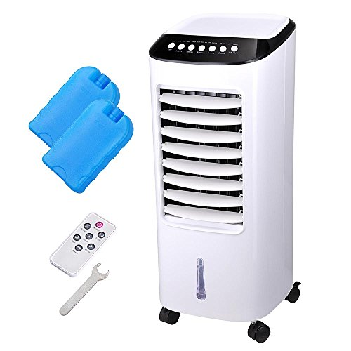 Yescom Portable Evaporative Air Cooler Fan Humidifier with Remote Control Ice Boxes Energy Saving Indoor Home Office 65W ()