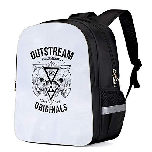 (Fashion Elementary Student School Bags- Out Stream Williamsburg Skull - Durable School Backpacks Outdoor Daypack Travel Packback for Kids Boys Girls)