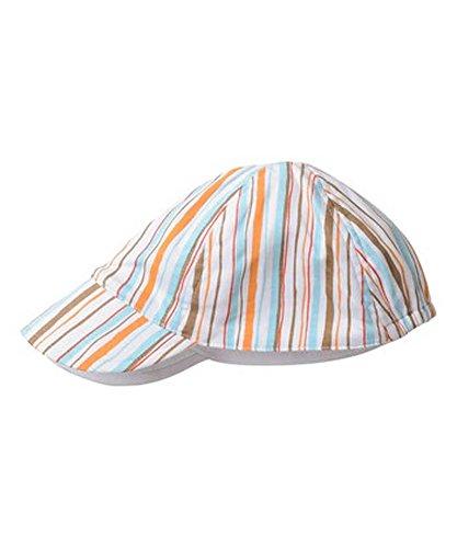 SNOPEA Boy ADORABLE Orange /& Blue Stripe Shortalls Top /& Hat 24M