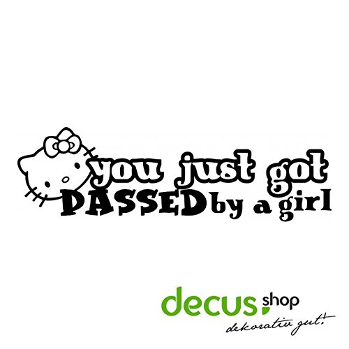 0d03925b9 Amazon.com : YOU GOT JUST PASSED BY A GIRL HELLO KITTY L 2574 // Sicker Decal  JDM HQ (carbon silver) : Sports & Outdoors