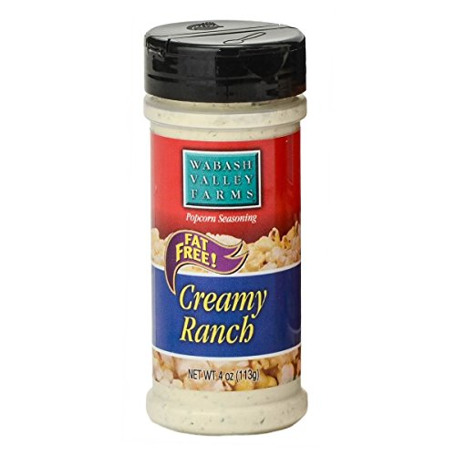 Wabash Valley Farms Popcorn Seasoning, Creamy Ranch - Great for Veggies, Eggs, Salad, Pasta, Potatoes and More - Fat-Free, 0 Calories Per Serving - Gourmet Quality 4oz