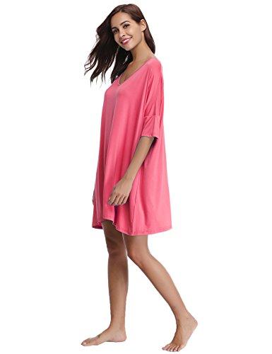 Vestito Aibrou Camicia Donna dalla Notte Biancheria da Rosa Modal Negligee Y5ZYxpwr