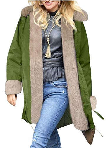 TTYLLMAO Womens Lined Parkas Military Hooded Warm Winter Coat 7