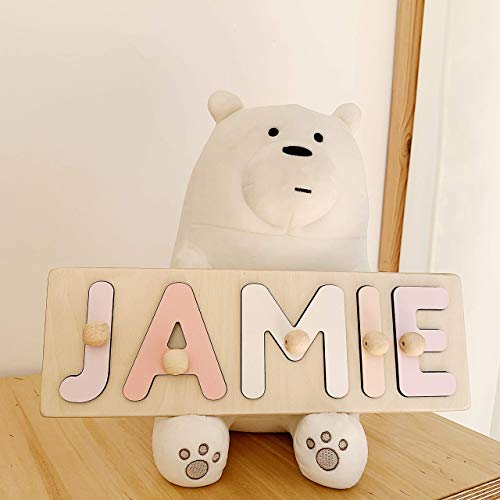 Name Puzzle Wood, One Year old Boy, Wooden Personalized Puzzle, Unique Childs Toy, Toddler Name Sign, Personalized Gifts, Montessori Puzzle