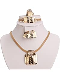 Moochi 18K Gold Plated Africa Style Golden Necklace...