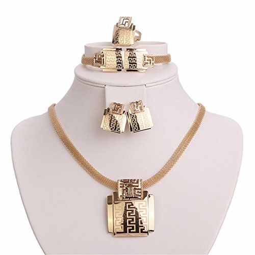 Moochi-18K-Gold-Plated-Africa-Style-Golden-Necklace-Jewelry-Set-Party-Dance