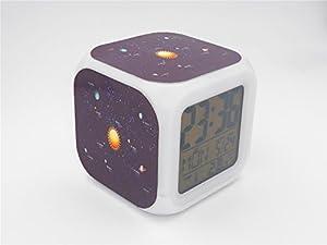 Boyan led alarm clock solar system astronomy design creative desk table clock - Unique alarm clocks for teenagers ...