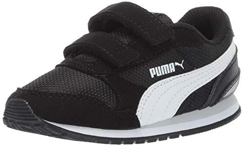 2c1c25bc473 PUMA Baby ST Runner Velcro Sneaker Black-White-grayviolet 8 M US Toddler