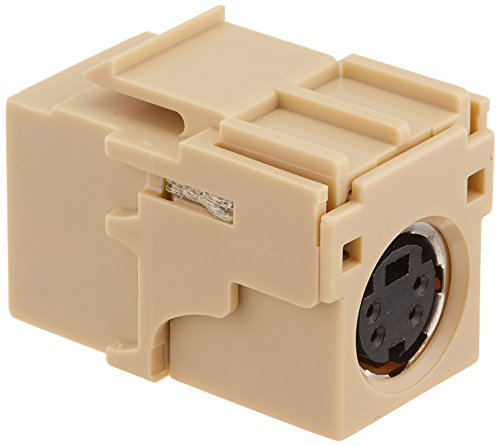 Leviton 40734-CVI QuickPort Female To Female, S-Video, Ivory