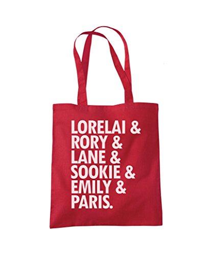 Lane Fashion Tote Rory Lorelai Lorelai Red Bag Shopper Rory SIwtfCqYx