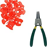 Weilan 21 PCS Pinless Peepers with Pliers Chicken