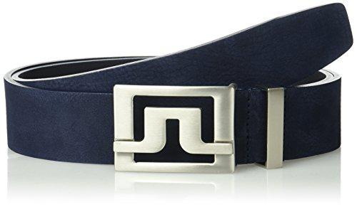 J Lindeberg Slater Belt (J.Lindeberg Men's Slater Brushed Leather Belt, JL Navy)