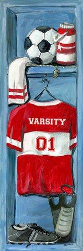 Oopsy Daisy Soccer Locker Wall Art, 12 by 36 by Oopsy Daisy
