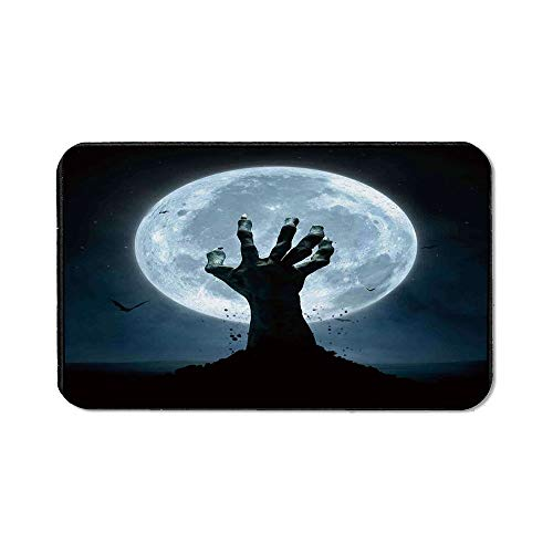 Halloween Decorations Office Mouse Pad,Zombie Earth Soil Full Moon Bat Horror Story October Twilight Themed for Office Computer Desk,15.75''Wx23.62''Lx0.12''H]()