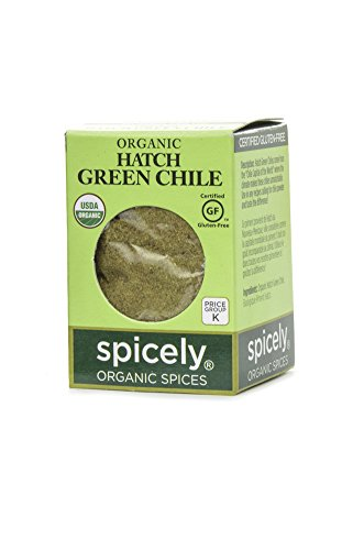 Spicely Organic Chili Hatch Green Powder 0.20 Ounce ecoBox Certified Gluten Free (Pepper Chile Chili Jalapeno Powder)