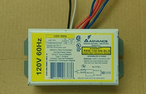 Advance Fluorescent Light 4 PINS Quad Triple 26W Instant Start Electronic Ballast Class P ()