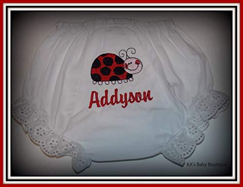 Ladybug Bloomers - Lady Bug Personalized Embroider Baby Girl Bloomers