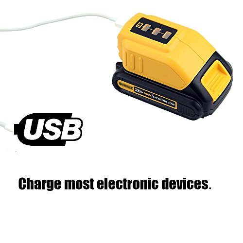 12V/20V Max Power Source for Dewalt Heated Jacket DCB091 Converters With USB and 12V Outlets Work with Lithium Battery by WEQCTER (Image #3)