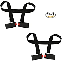 NKTM 2 Packs Portable Double Ski Carrier with Two Velcros for Skiing Enthusiasts Ski Essential Equipment