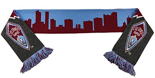 fan products of MLS Colorado Rapids Official Colorado Skyline Scarf, Burgundy, One Size