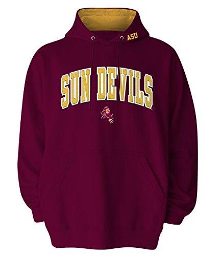 NCAA Arizona State Sun Devils Hooded Sweatshirt, Maroon, X-