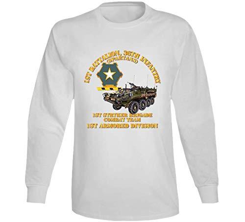 2XLARGE - Army - 1st Bn 36th Infantry - 1st Stryker Bde Cbt Tm - 1st Ar Div Long Sleeve - White ()