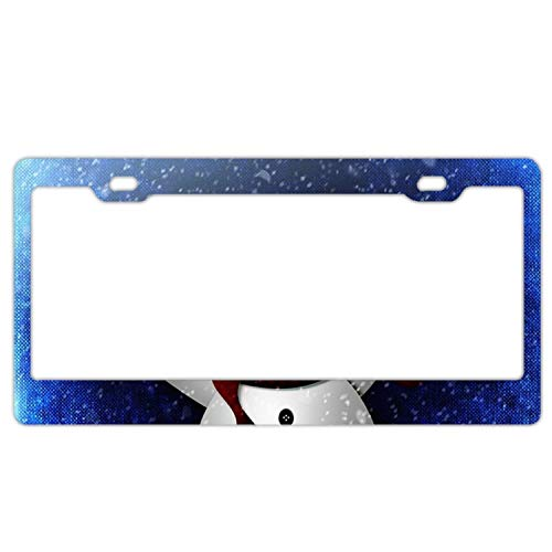 (License Plate Covers Abominable Snowman Aluminum Metal License Plate Frame Tag Holder)