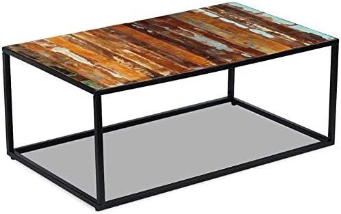 Aanbiedingen Wakects Salontafel met metalen frame, koffietafel, bijzettafel, woonkamertafel voor woonkamer, balkon, hal, 100 x 60 x 40 cm  ijezCxt
